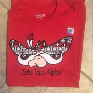 NWOT Zeta Tau Alpha T-shirt with UNLV Rebel.